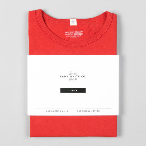 2-PACK WHITE/BLOOD ORANGE T-SHIRT