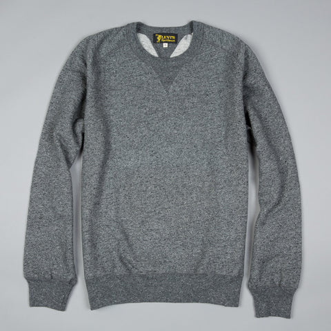 1950s CREW SWEATSHIRT DARK GREY MELEE