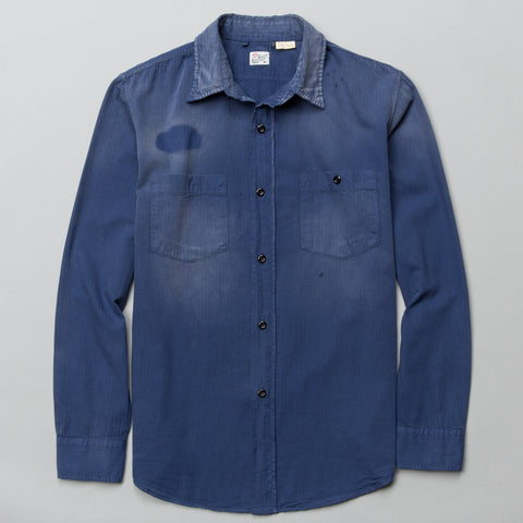 1950S WORK SHIRT DUSTY BLUE