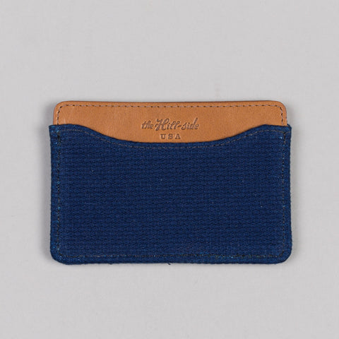LIGHTWEIGHT INDIGO SASHIKO CARD CASE