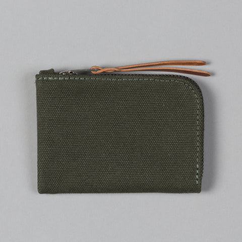 CANVAS ZIP SLIM WALLET ARMY GREEN