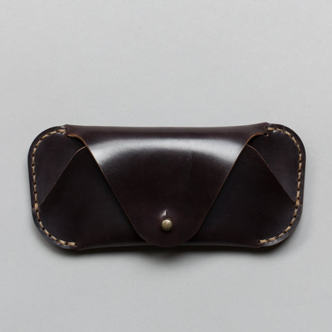 EYEWEAR SLEEVE OXBLOOD SHELL CORDOVAN