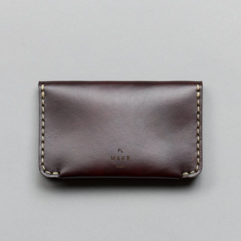 HORIZON THREE WALLET OXBLOOD