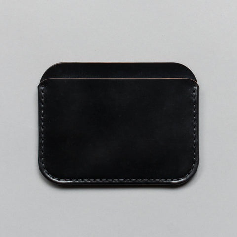 ROUND LUXE WALLET BLACK SHELL CORDOVAN