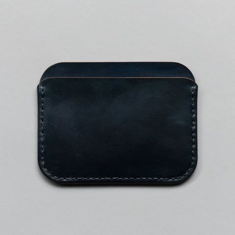 ROUND LUXE WALLET NAVY SHELL CORDOVAN