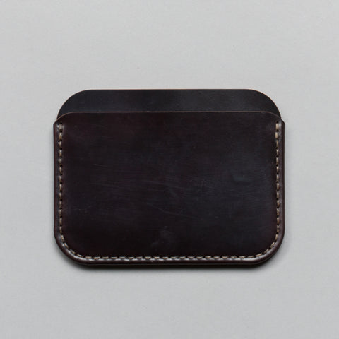 ROUND LUXE WALLET OXBLOOD SHELL CORDOVAN