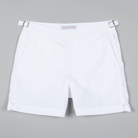 BULLDOG MID LENGTH SWIM SHORT WHITE