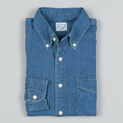 BUTTON DOWN SHIRT DENIM USED