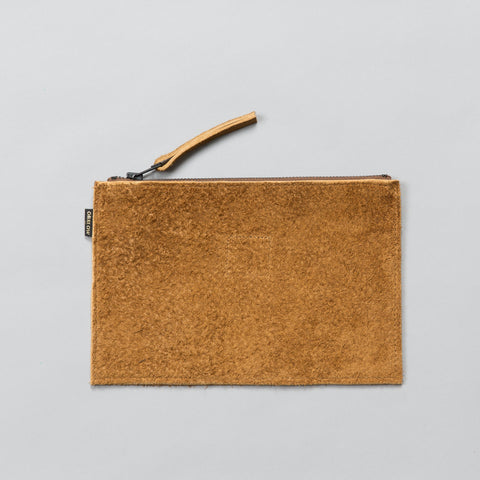 LEATHER POUCH BROWN SUEDE