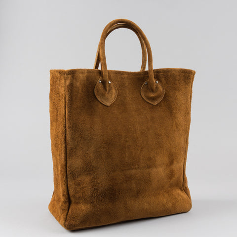 LEATHER TOTE BAG BROWN SUEDE