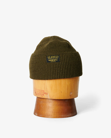 SEABEES WATCH CAP OLIVE WOOL