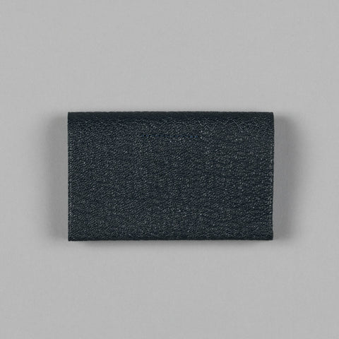 GEOLOGY LEATHER CARD HOLDER NAVY