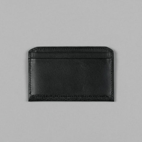 GEOLOGY LEATHER FLAT WALLET BLACK