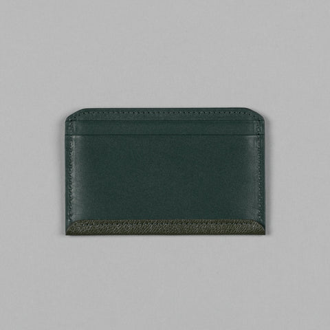 GEOLOGY LEATHER FLAT WALLET MOSS GREEN
