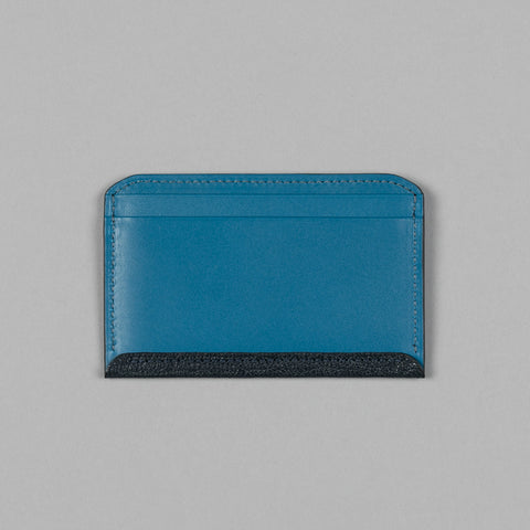 GEOLOGY LEATHER FLAT WALLET NAVY