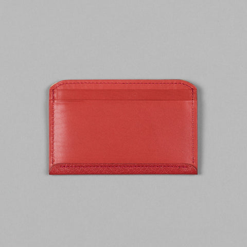 GEOLOGY LEATHER FLAT WALLET RED