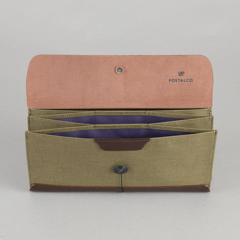 TRAVEL WALLET OLIVE GREEN
