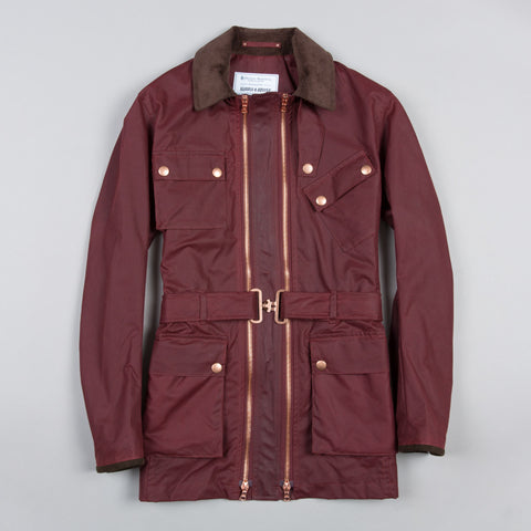 TWIN TRACK WAXED COTTON JACKET RED