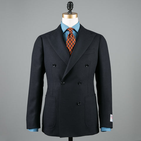 BALLOON WOOL DB SPORT COAT DARK NAVY