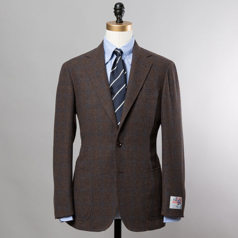 BALLOON WOOL SPORT COAT BROWN CHECK