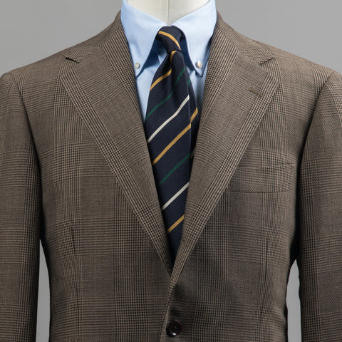 BALLOON WOOL SPORT COAT BROWN PRINCE OF WALES CHECK