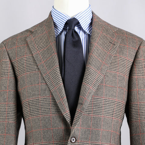 BALLOON WOOL 'TWEED' SPORT COAT TAN CHECK