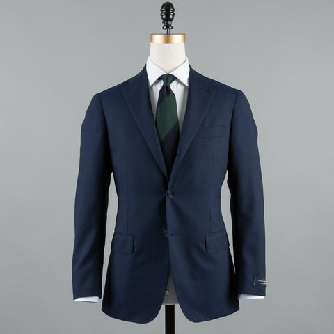 CALM TWIST WOOL 184 SUIT NAVY