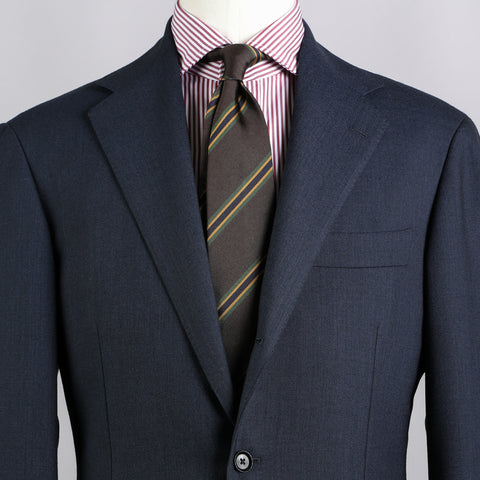 CALM TWIST WOOL SHARKSKIN SUIT NAVY