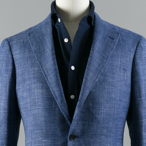 CARLO BARBERA WOOL/LINEN/SILK 184 SPORT COAT BLUE