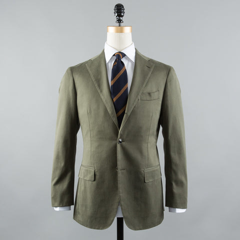 COTTON 184 SUIT OLIVE