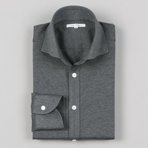 COTTON JERSEY SHIRT CHARCOAL