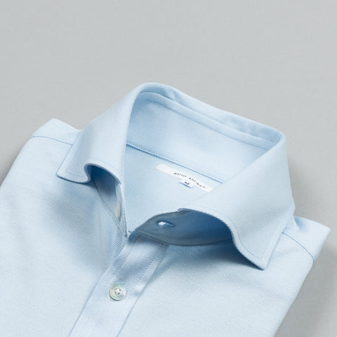 COTTON JERSEY SHIRT LIGHT BLUE