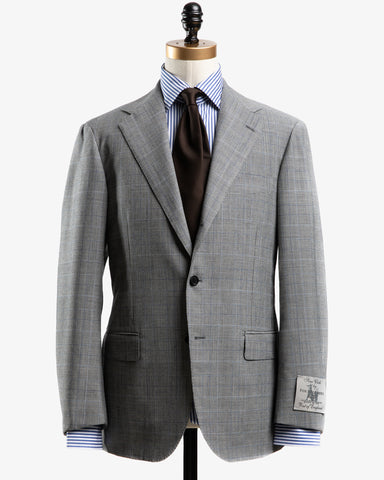 FOX BROTHERS WOOL SUIT GREY GLEN CHECK