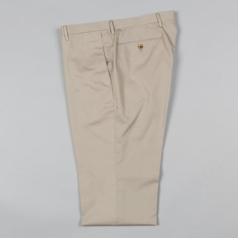 LIGHTWEIGHT COTTON TWILL FLAT FRONT TROUSER KHAKI