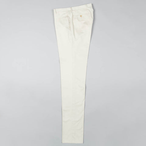 LIGHTWEIGHT COTTON TWILL FLAT FRONT TROUSER STONE