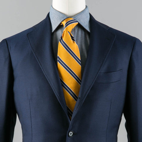 LORO PIANA HOPSACK WOOL 184 SPORT COAT NAVY