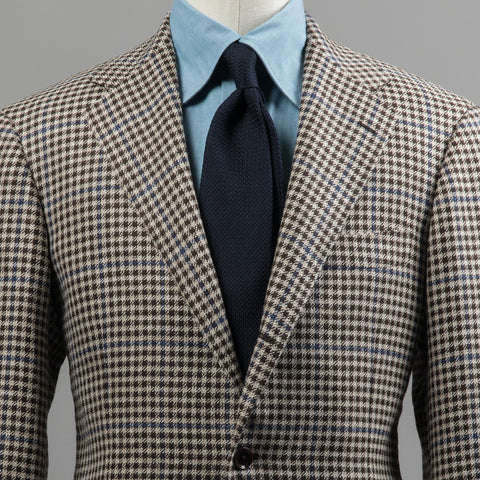 MARLING & EVANS WOOL/LINEN/SILK SPORT COAT BEIGE GUN CLUB CHECK