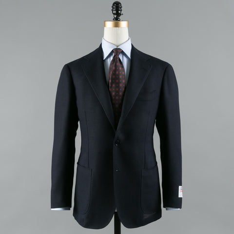 BALLOON WOOL SPORT COAT NAVY