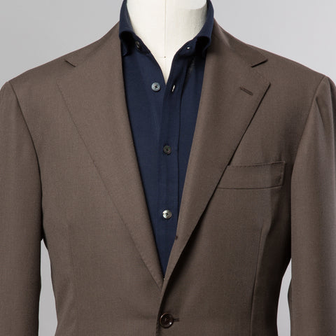 TRAVELLER WOOL SUIT BROWN