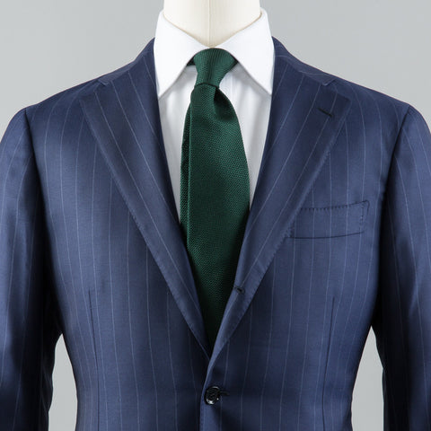 WOOL 184 SUIT BLUE ROPE STRIPE