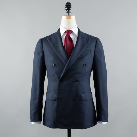 WOOL DB SPORT COAT BLUE BIRDSEYE