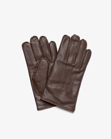 LEATHER OFFICER'S GLOVES VINTAGE BROWN