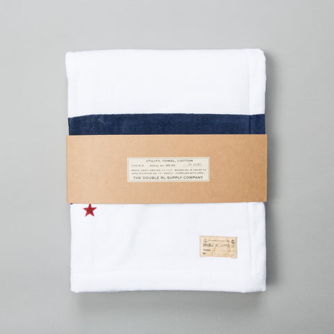 NAVAL OFFICER'S BEACH TOWEL WHITE