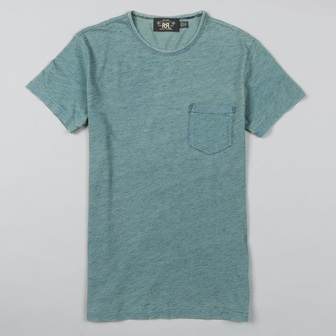 SLUB POCKET TEE WASHED INDIGO