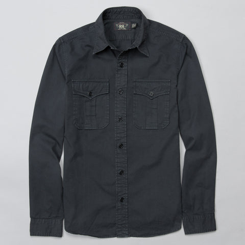 TWILL GI MILITARY SHIRT BLACK