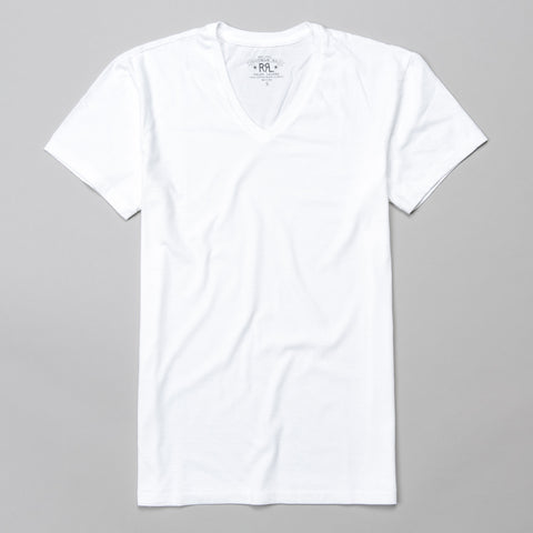 V-NECK T-SHIRT WHITE