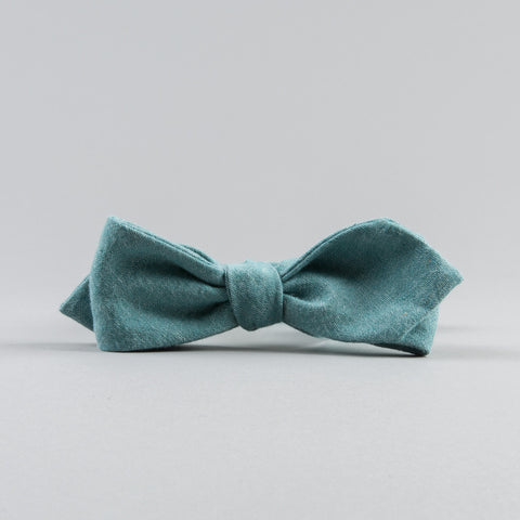 SELVEDGE CHAMBRAY BOW TIE ASAGI TURQUOISE