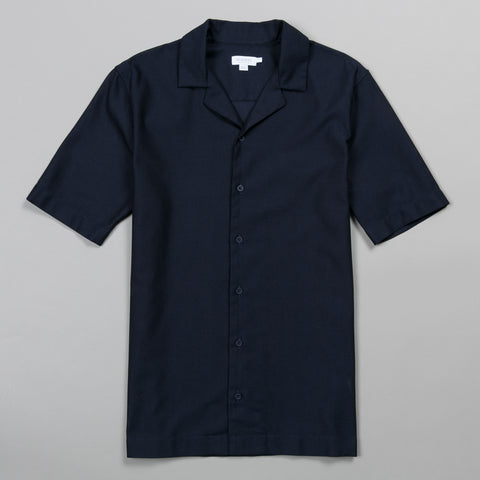 CAMP COLLAR SHIRT NAVY