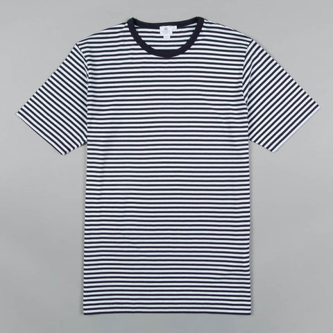 ENGLISH STRIPE CREW NECK NAVY/WHITE