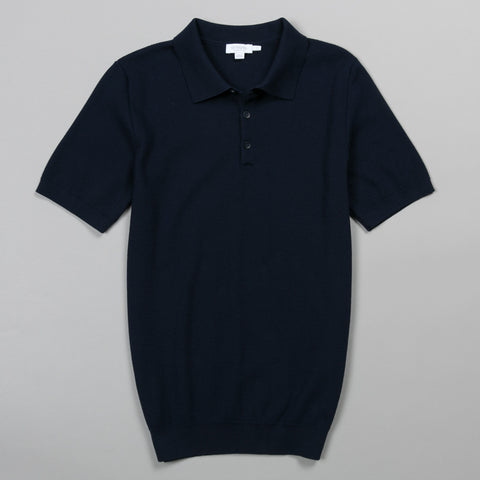 RACK STITCH POLO NAVY